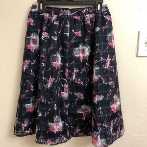 Halogen Navy and Pink Party Skirt Size 4